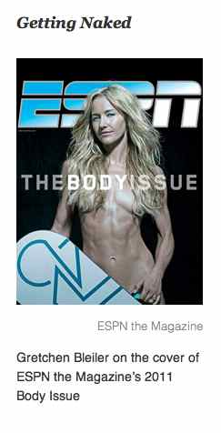 Screen Shot taken from TIME Magazine article of cover of Olympian Gretchn