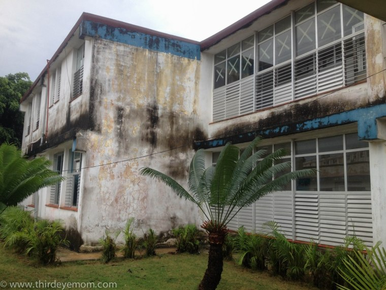 One of the buildings in the Polyclinic in Havana