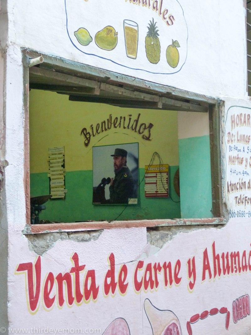 Food shop in Cuba