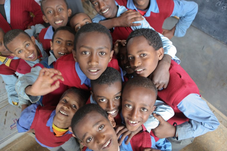 Students of Hidassie School, Addis Ababa Hidassie School. Addis Ababa, Ethiopia. November 2012. Photo Credit: GPE/Midastouch