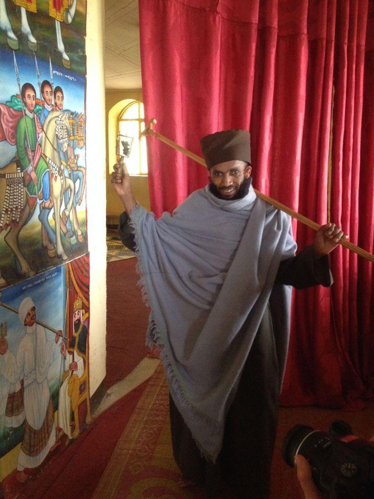 artwork at island monastery in Bahir Dar