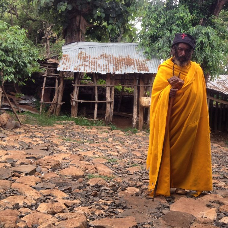 Monk at island monastery in Bahir Dar