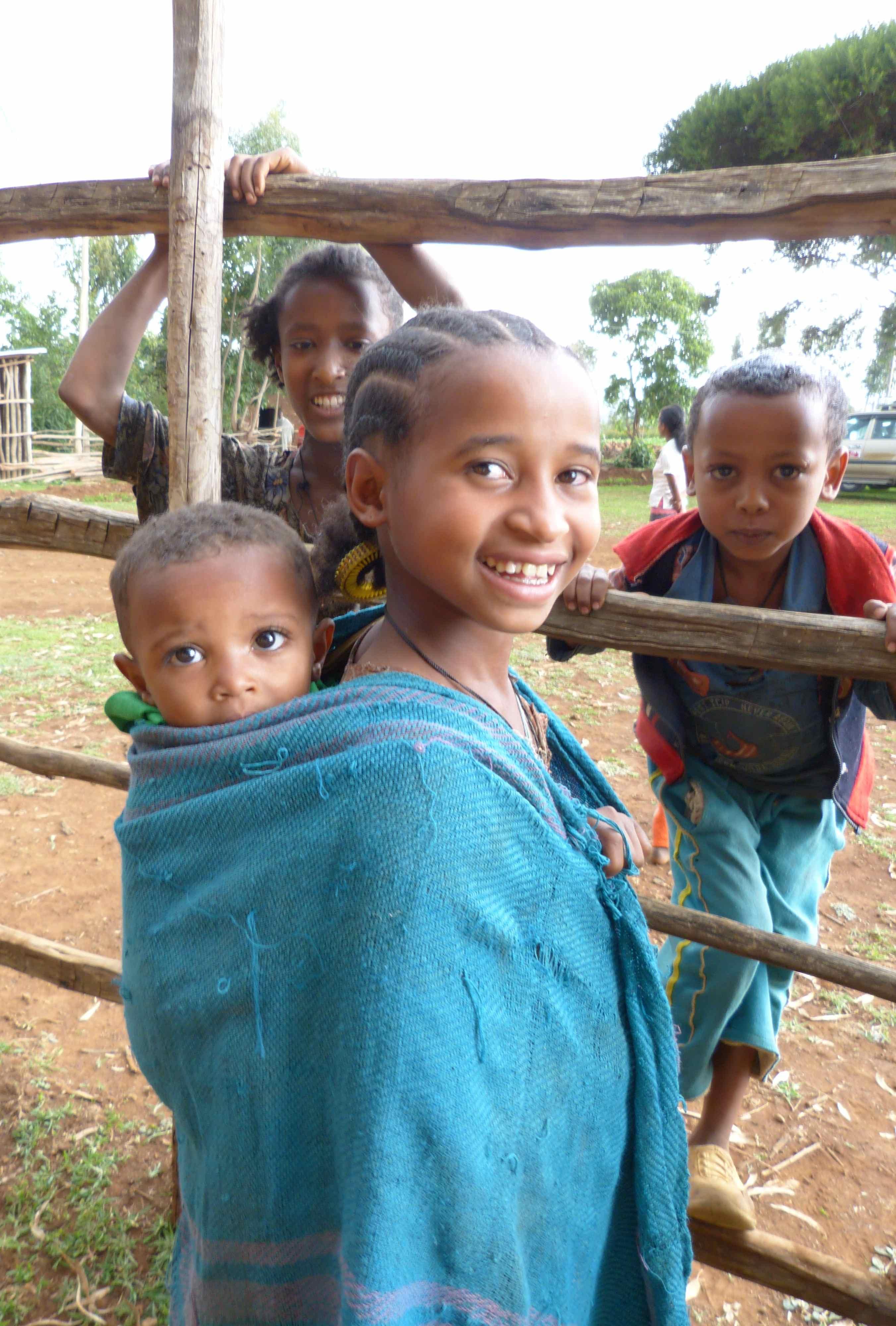 Children at Mosebo Village, Ethiopia