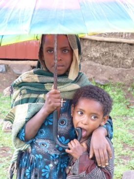 Children at Mosebo village Ethiopia