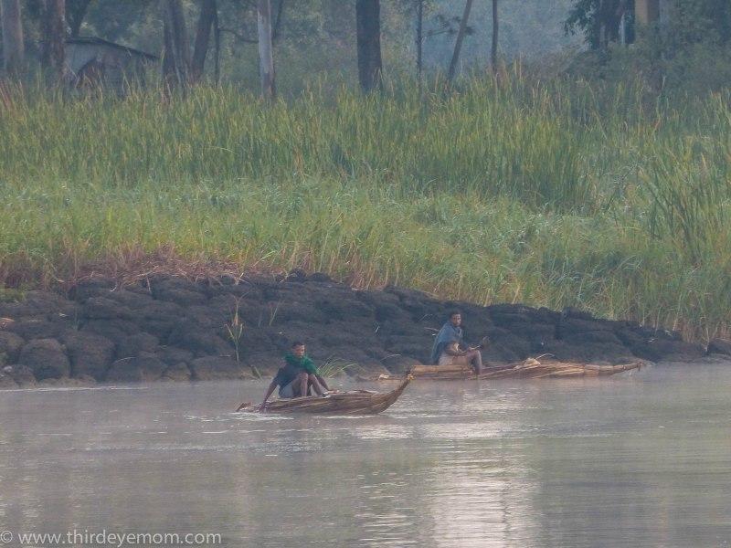 Papyrus boats on Lake Tana, Ethiopia.
