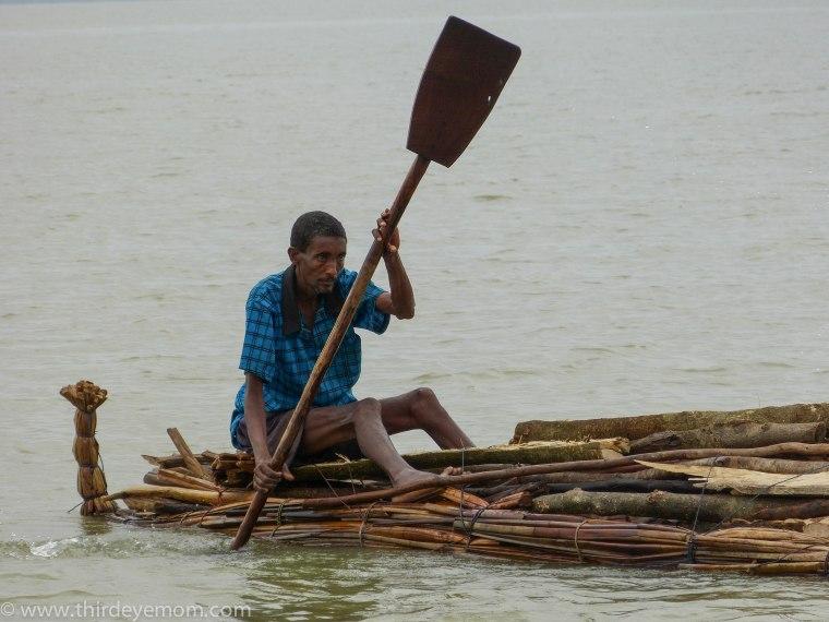 Papyrus fisherman on Lake Tana, Ethiopia