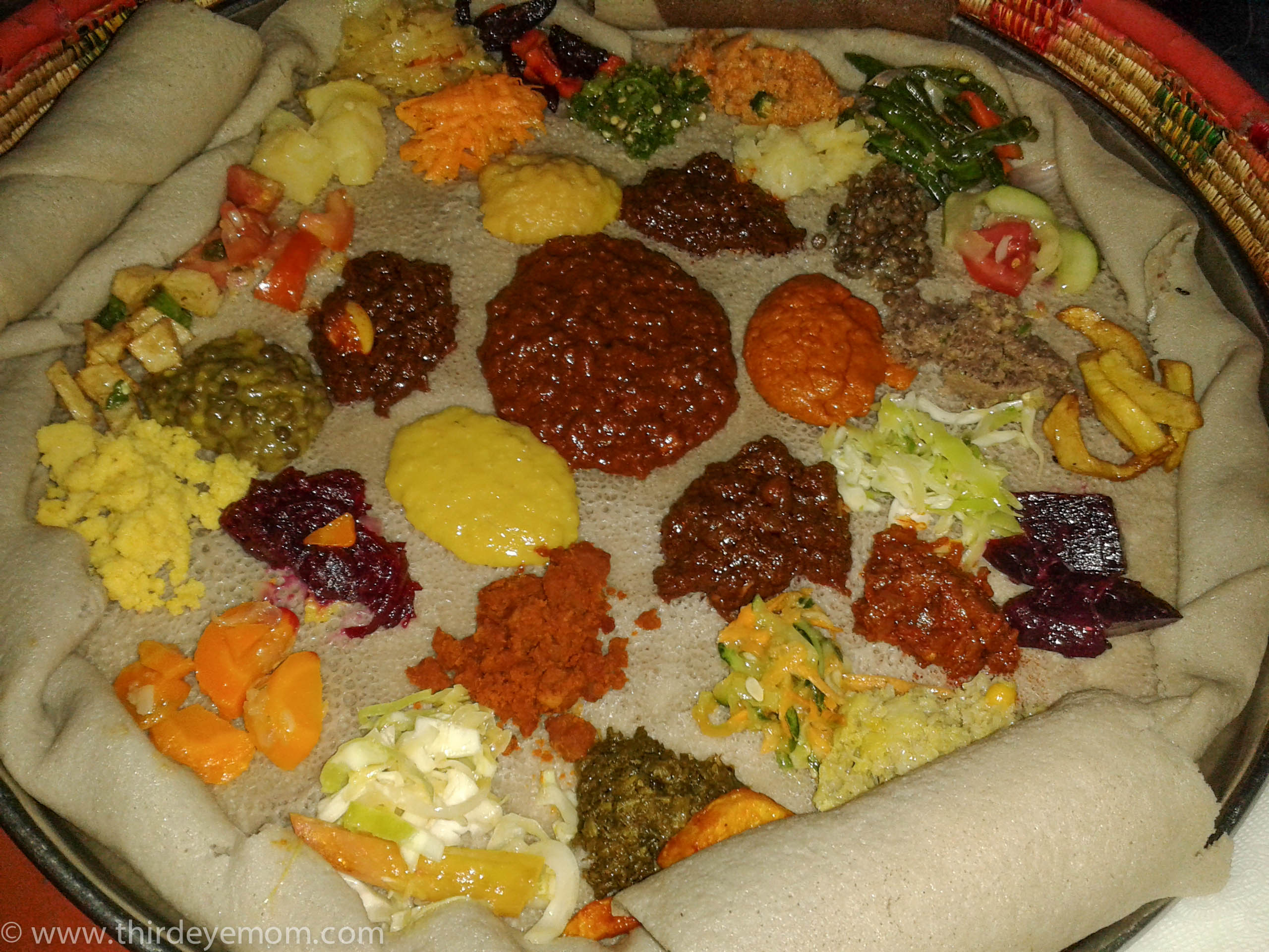 The texture of injera thirdeyemom for Authentic ethiopian cuisine