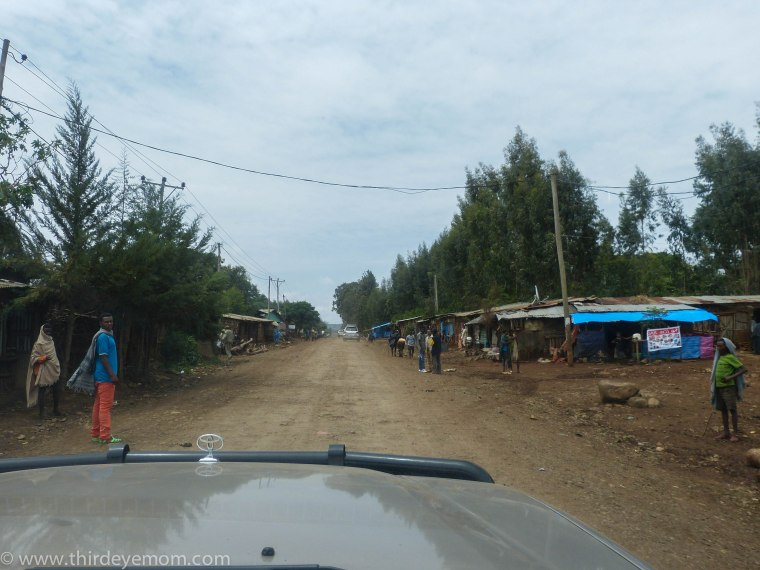 Driving in rural Ethiopia