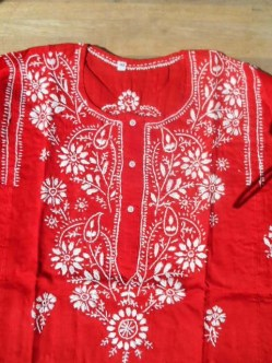 Red Cotton Kurta