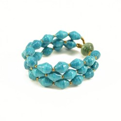 To the Market: Blue Bracelet