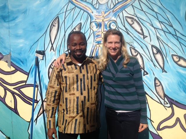 Me meeting Dr. Mkopi in Minneapolis.