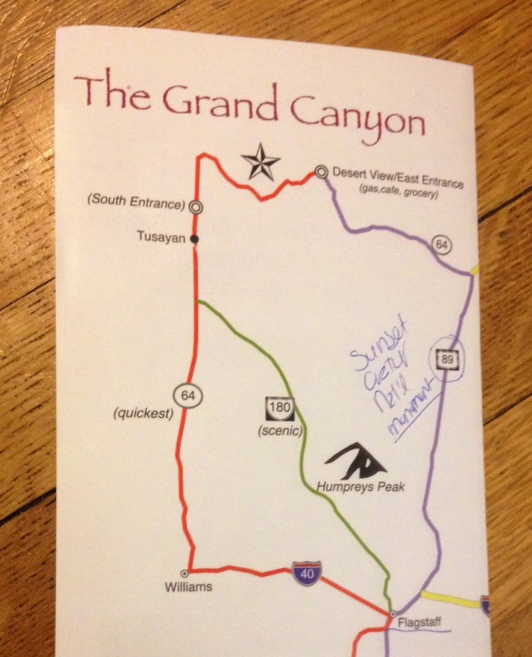 We got this map at a hiking shop and by taking Route 89 we were able to cruise through some amazing parks!