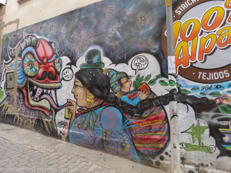 Street Art in La Paz, Bolivia