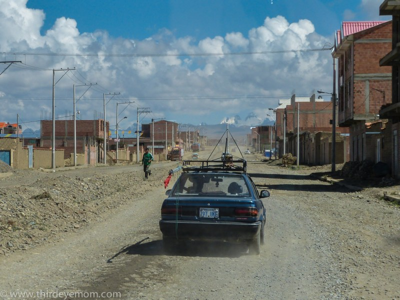 The roads outside of the city quickly turn to gravel.