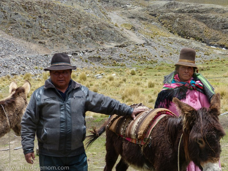 Gregario and his wife are a team which is unusual for muleteers who mainly leave their wives at home.