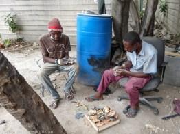 Christelle Paul Horn and Bone Art Haiti