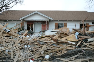 Mississippi: Hurricane Katrina Damage. Photo Credit: Save the Children
