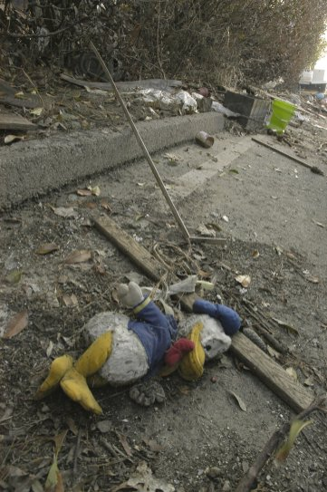A child's toy lays among the debris of Hurricanne Katrina.Photo Credit: Save the Children