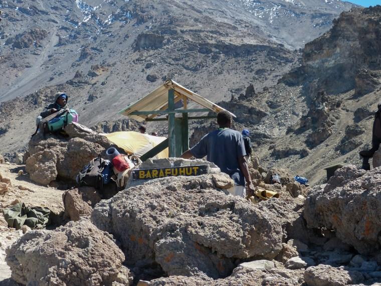 Going to Barafu Hut Machame Route Kilimanjaro