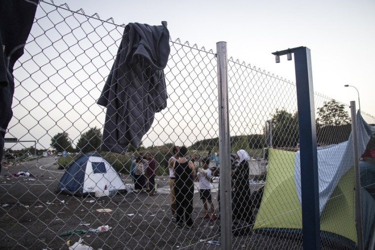 Around 500 people remain in Horgoš, Serbia, uncertain whether to wait for the Hungarian border to open, or to travel to the Croatian border instead.Stuart Sia/Save the Children