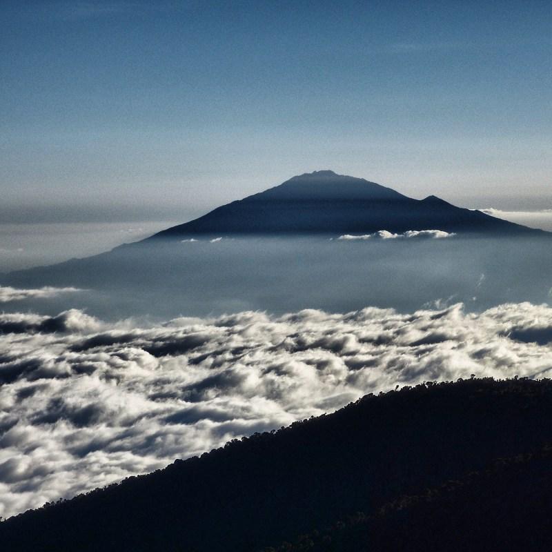 Mount Meru in the distance
