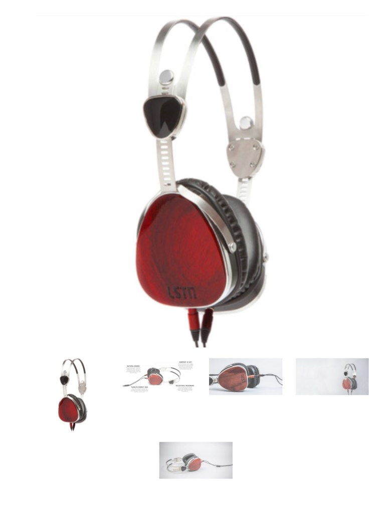 Troubadour Headphones with Mic in Cherry Wood from Society B