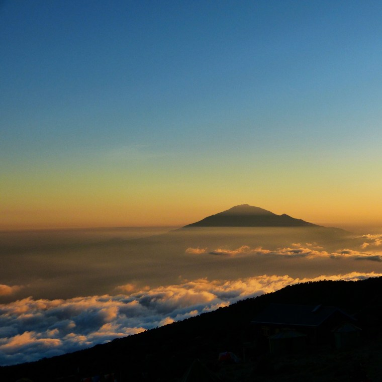 Sunset on Mount Kilimanjaro
