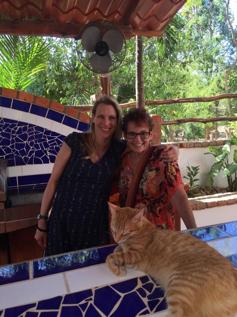 Me and Debbie in San Juan del Sur.