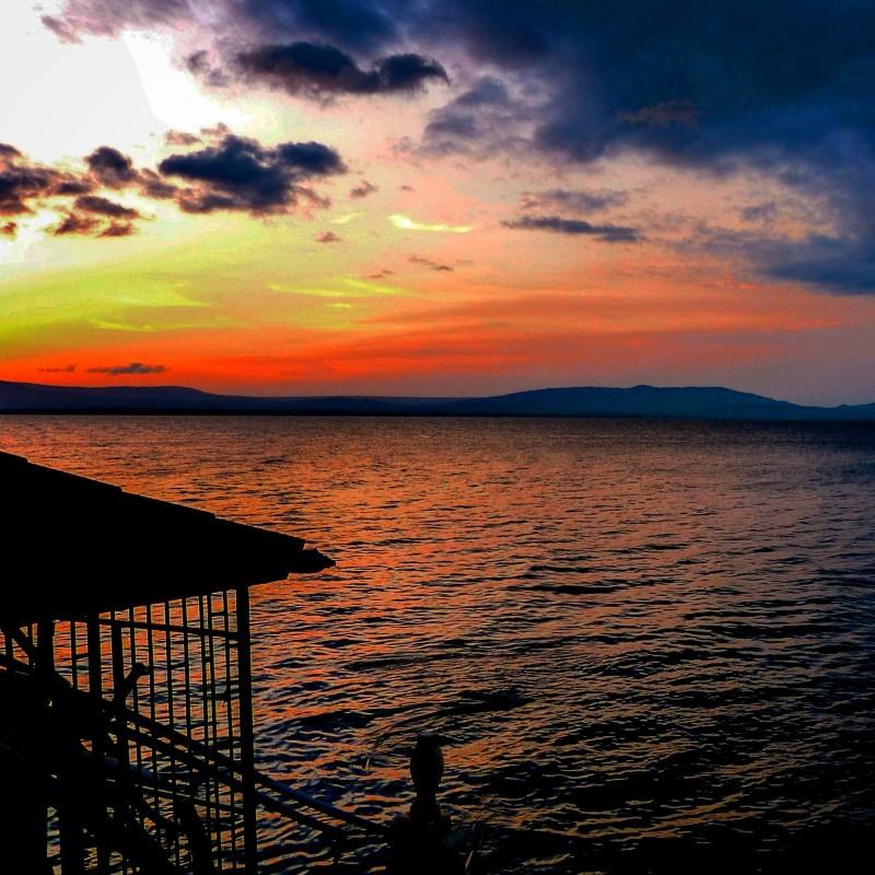 Sunset over Lake Tana in Ethiopia
