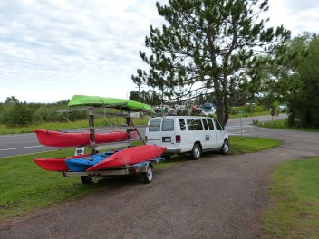 Loading the Kayaks
