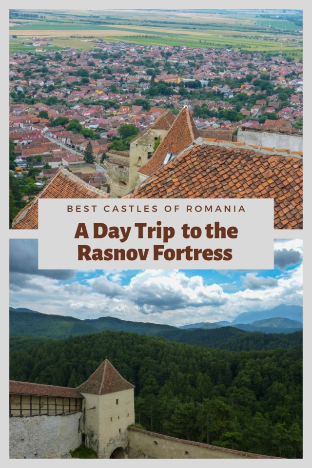 The Rasnov Fortress in Romania is perched on a rocky hilltop overlooking the town of Rasnov below and was built in the 13th century by Teutonic Knights as protection against invaders. It is the perfect place for a day trip from Brasov and well worth the visit.