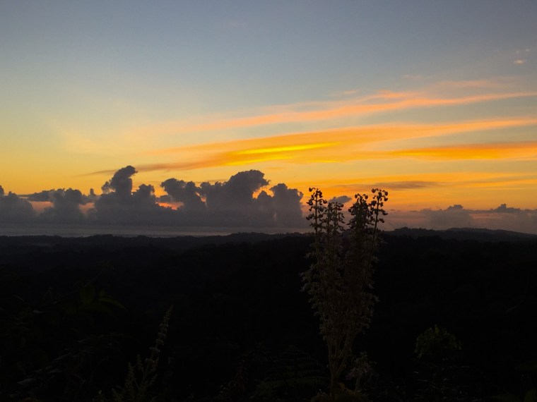 Sunrise over Osa Peninsula, Costa Rica