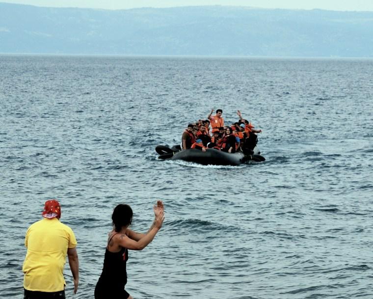 Coming ashore. Photo credit: Robin Shanti Jones