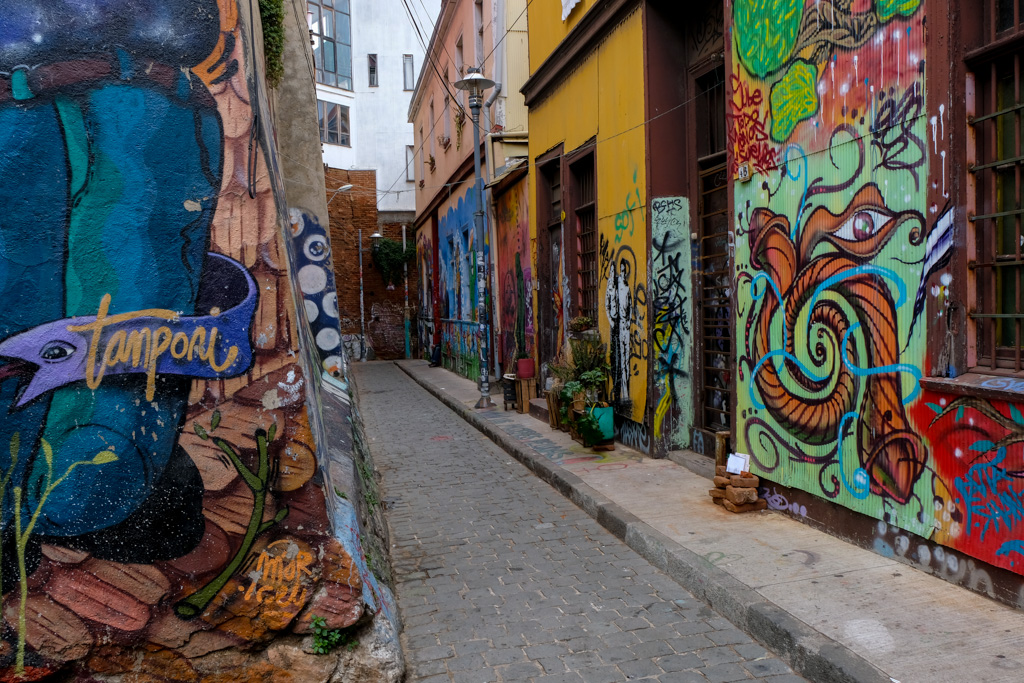 Street Art, Cerro Concepcion, Valparaiso, Chile