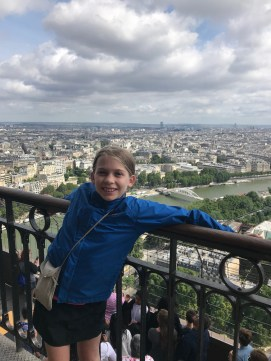 On top of the Eiffel Tower