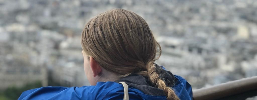 Sophia on top of the Eiffel Tower