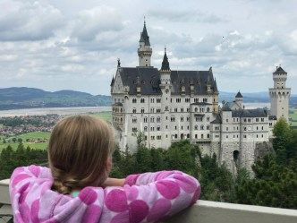 Looking out at the castle where it all began