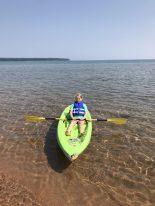 Sophia enjoying a paddle