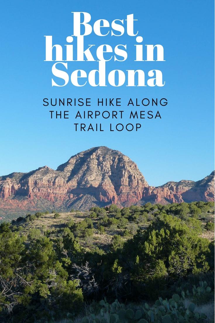 Best hikes in Sedona, Arizona Sunrise hike along the Airport Mesa Trail Loop