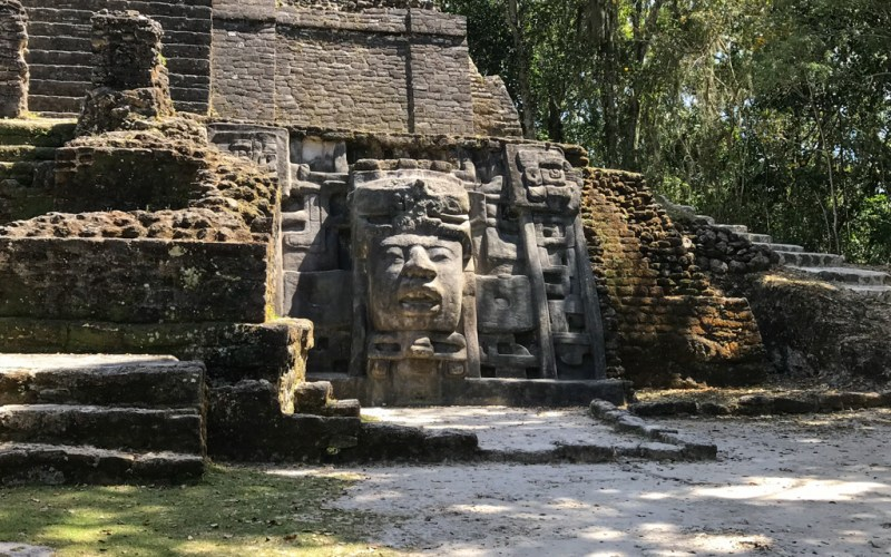 Mask Temple Lamanai Belize