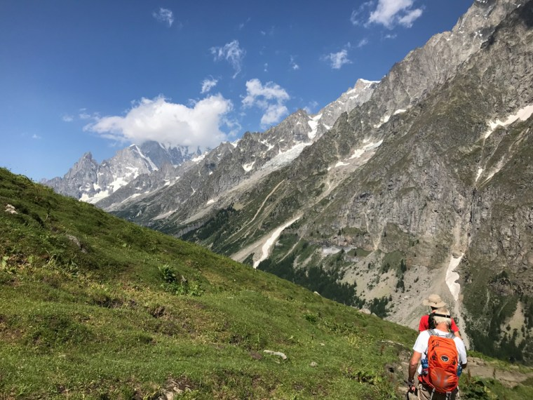 hike to Val Ferret Courmayeur Italy