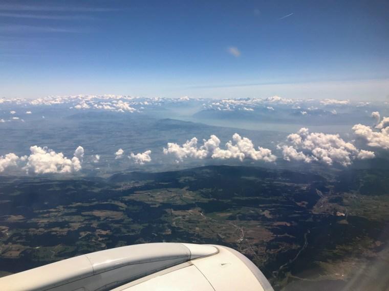 The Alps in flight