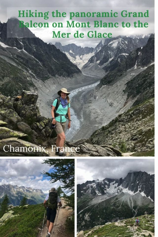 The magnificent panoramic Grand Balcon Nord is a 6.1 kilometer hike on Mont Blanc affording stunning views of the surrounding Alps and even Mont Blanc if you begin from the Montenvers/Mer de Glace direction. Take the gondola up from Chamonix and be prepared for a delighful two hour hike.