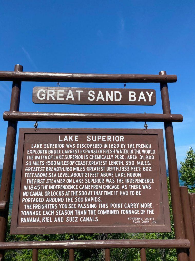 Great Sand Bay and Beach, Keweenaw Peininsula, MI