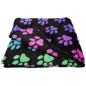 uper Cozy™ Fleece Paw Print Throw Blanket