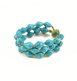 To the Market: Blue Bracelet