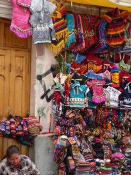 Street vendors in La Paz Bolivia