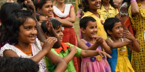 Children at one of the orphanages The Miracle Foundation supports in India. Photo Credit: Lynne Dobson