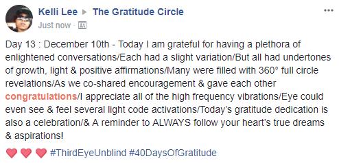 Gratitude 2 Day 13 2017-12-10