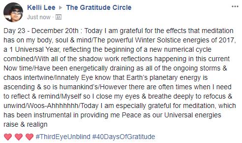 Gratitude 2 Day 23 2017-12-20